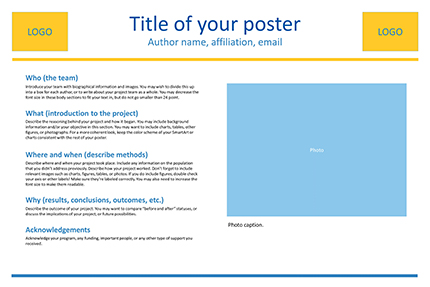 Size layout and text poster presentations research for Eposter template