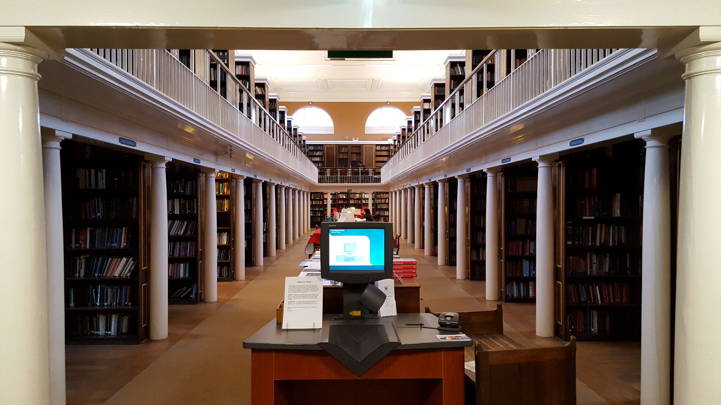 The interior of the library