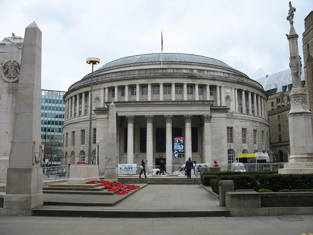 Front of Manchester Central Library.