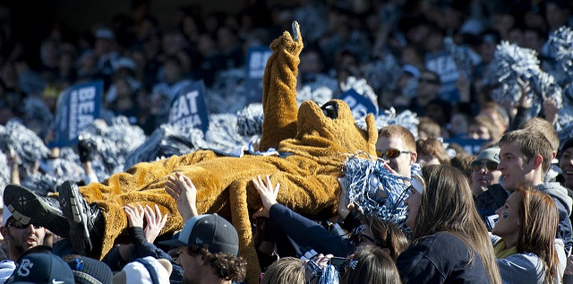 Nittany Lion crowd surfing