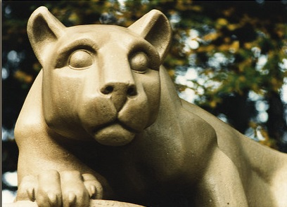 Nittany Lion Shrine, a limestone sculpture of a mountain lion