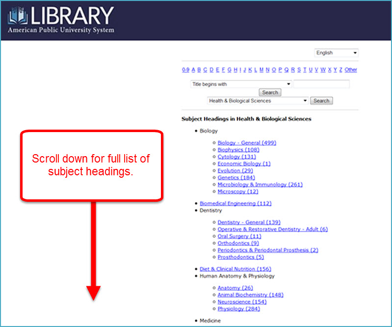 Find A Journal Detailed Subject Headings