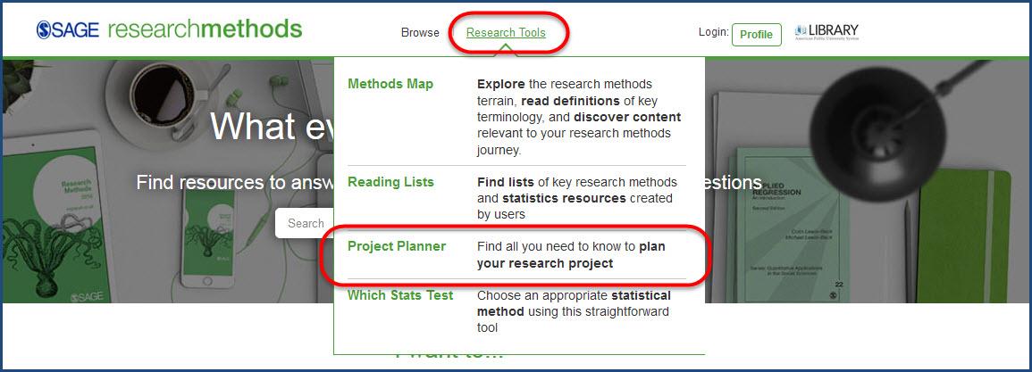 SAGE Project Planner link