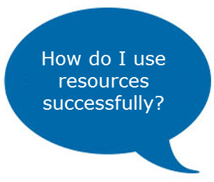 using resources successfully graphic