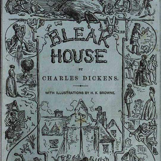 Original cover of the serialized publication of Bleak House