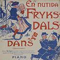 "Cover of sheet music reading ""En nutida fryksdals danske"""