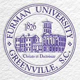The Furman seal in purple on a white background