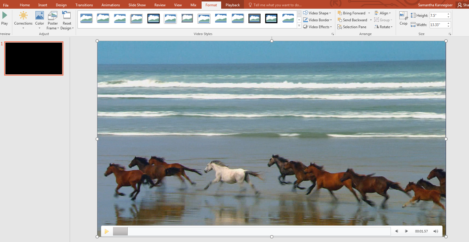 You Can Edit Your Video In Powerpoint Using The Video Tools Ribbon (this  Ribbon Will Only Appear When You Are Clicked On Your Video In The Slide)