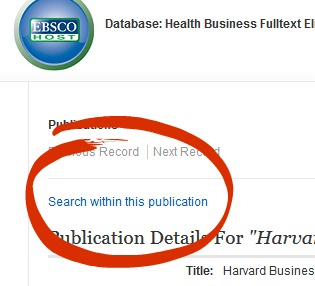 "Use the ""search within this publication"" option on the top left side of the page."