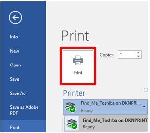 Printing Command