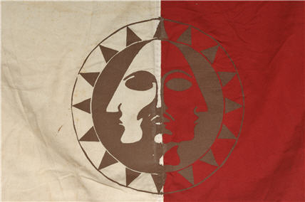 Aztlan symbol on flag