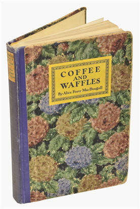 Book cover - Coffee and Waffles cookbook