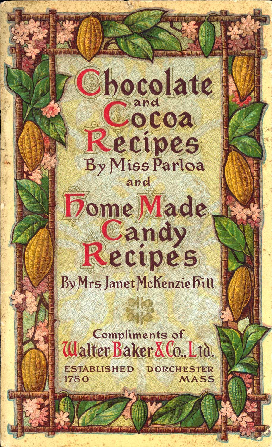 Book cover - Chocolate and Cocoa Recipes