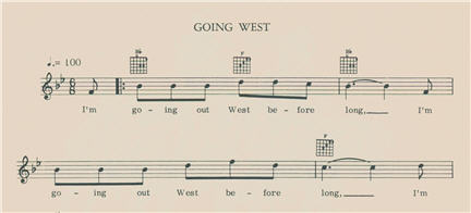"Excerpt of song ""Going West"""