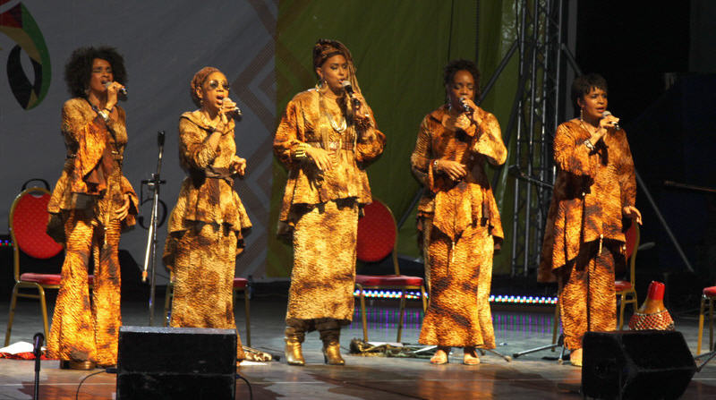 Sweet Honey in the Rock musical group on stage
