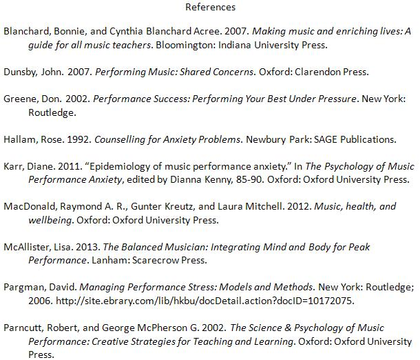 1  Reference List - MUS 7260 Music Research Methods - Research