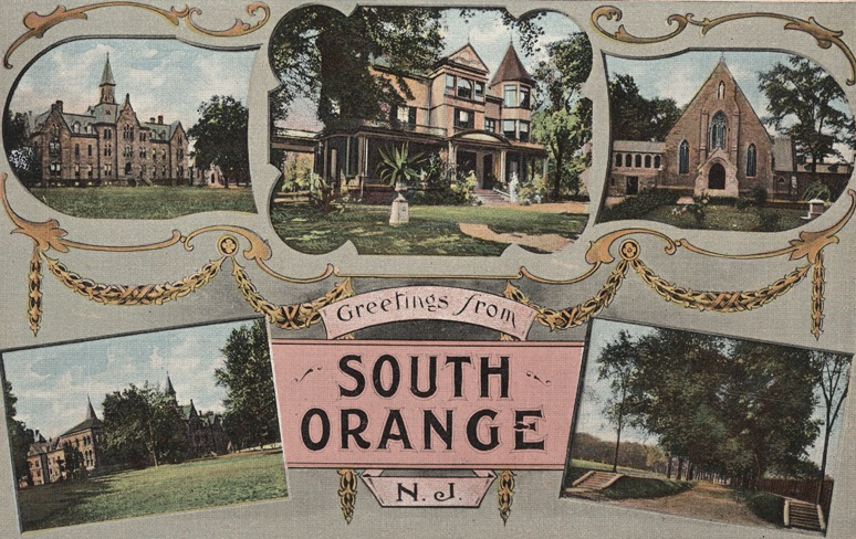 Multiple images of places in South Orange with the words