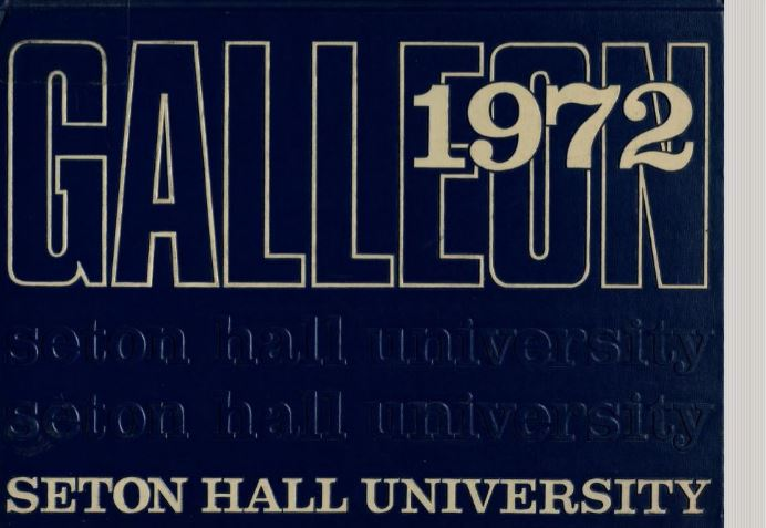 Seton Hall University Galleon cover from 1972
