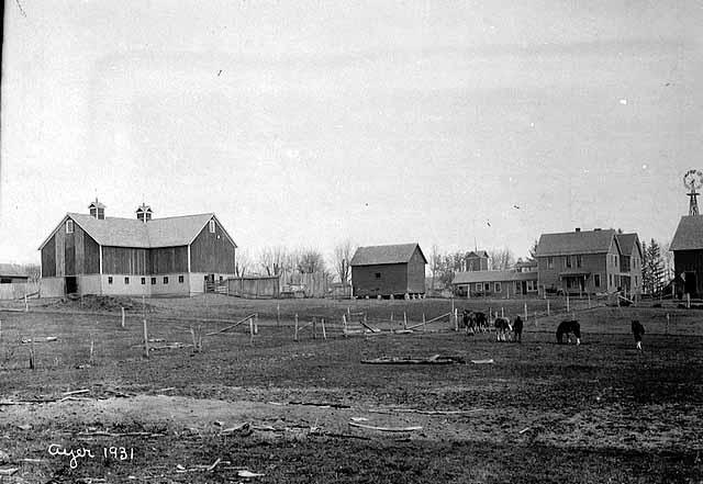 Farm scene, 1910.