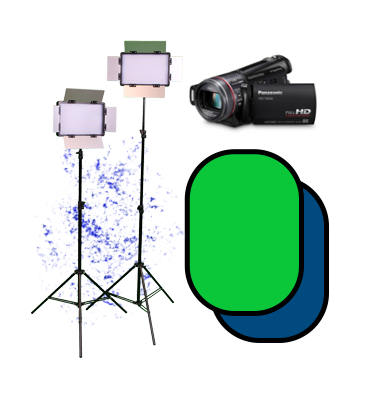 lights, camera, and green screen