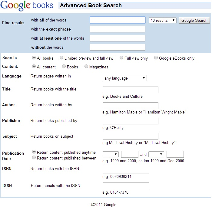 Searching Google Books - Find, Use, Peruse: Google Books