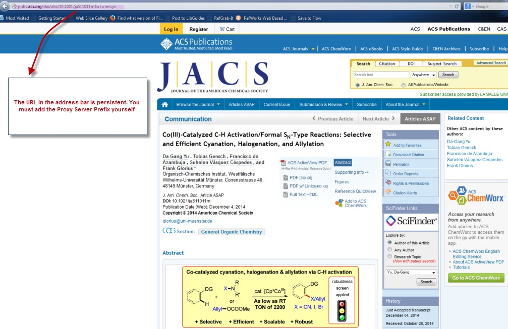 ACS - Persistent Links - LibGuides at La Salle University