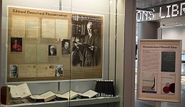 A display case in Berry Library