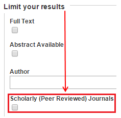 How do i find peer reviewed articles