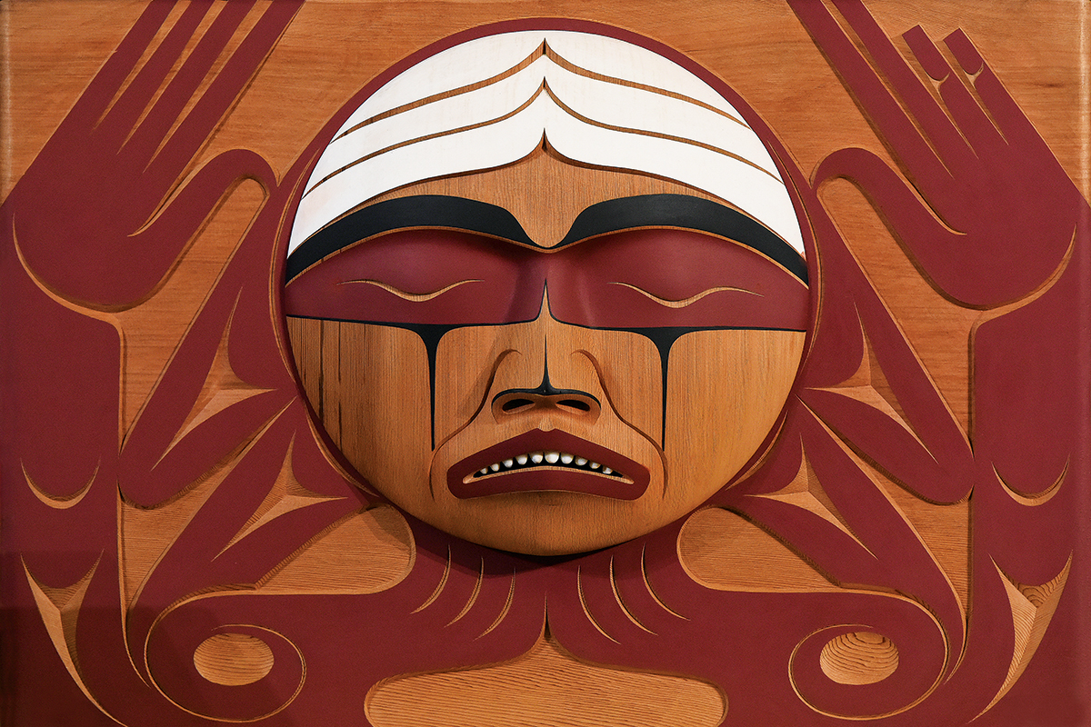 Coast Salish Bentwood Box carved by L. Marston
