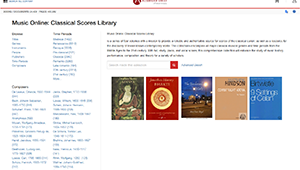 Scores - Music - Library at University of Calgary