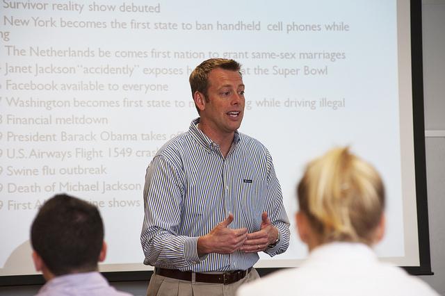 David Bergen teaching