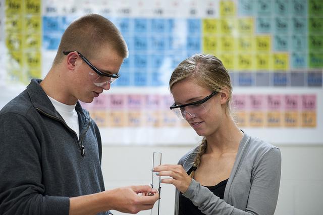 chemistry students