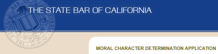 Moral Character Determination - Bar Exam and MPRE
