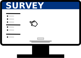 Image of a Computer with a Survey on it.