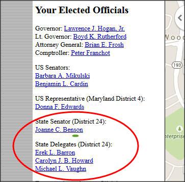 state senators and state delegates