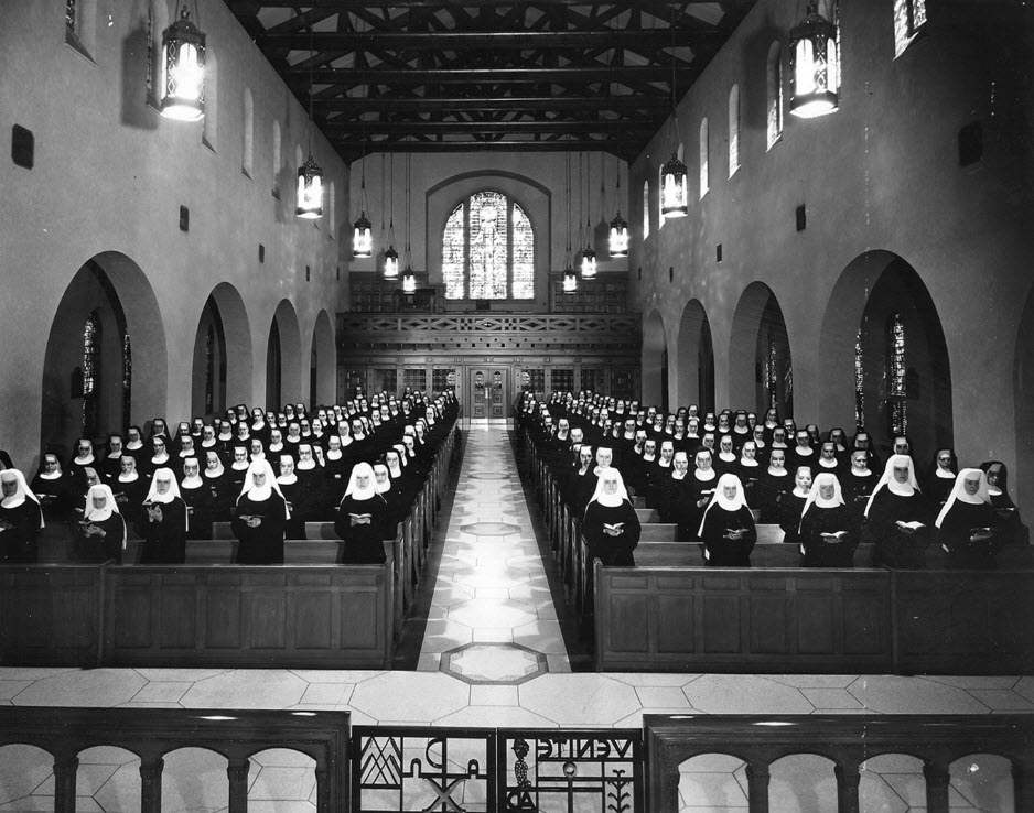1946 St. Scholastica Monastery Sisters in Chapel