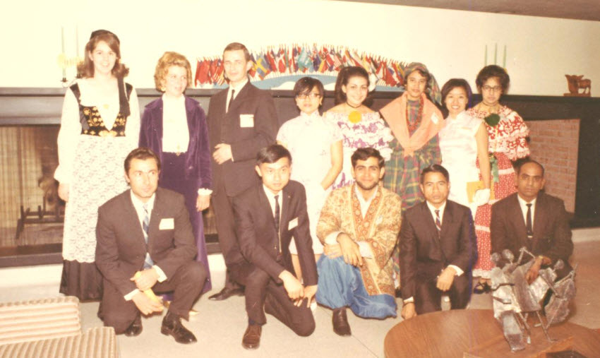 1968 International Students in Somers Lounge