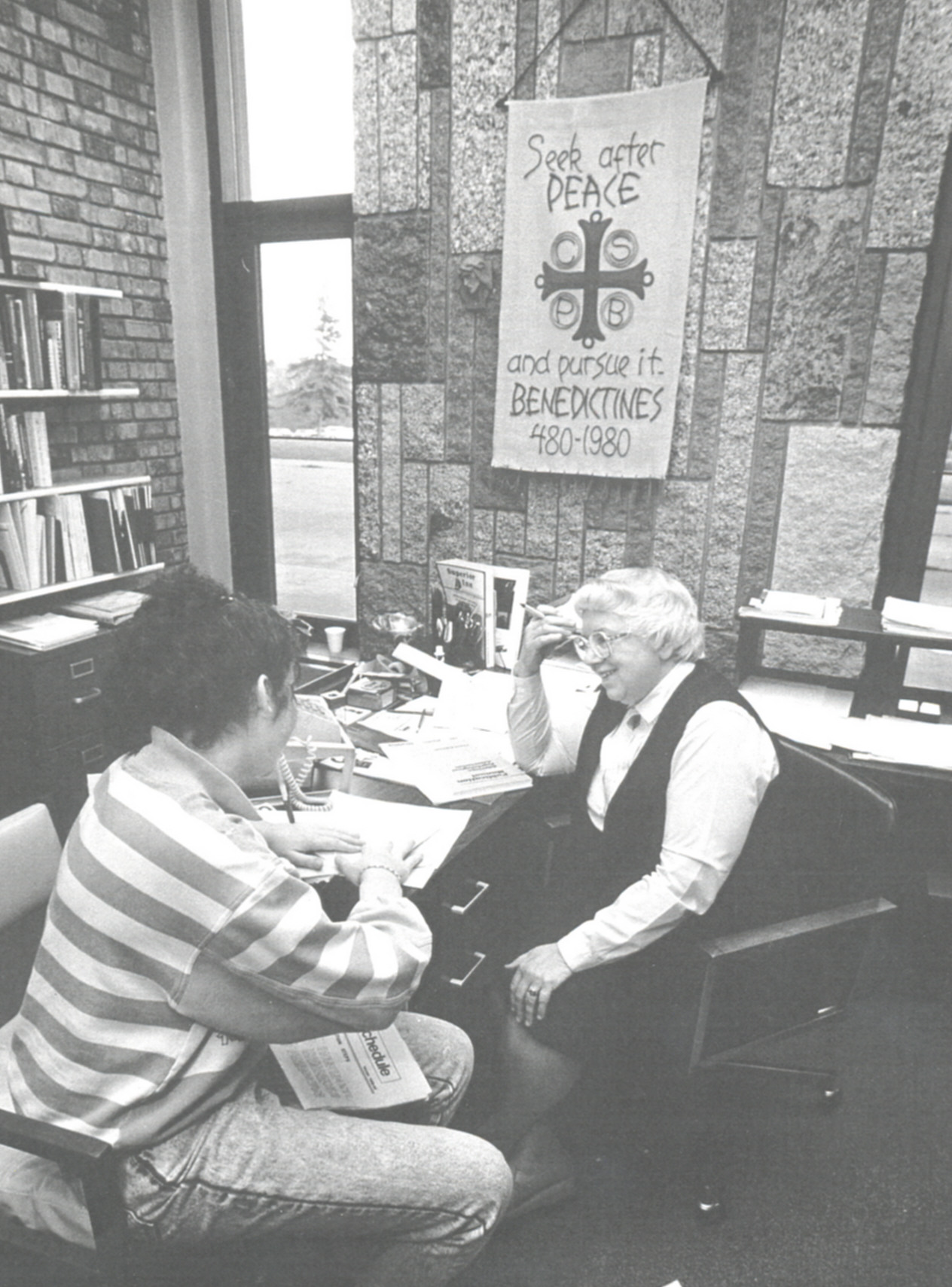 1991 Nursing Student with Sister Helen Claire Arts