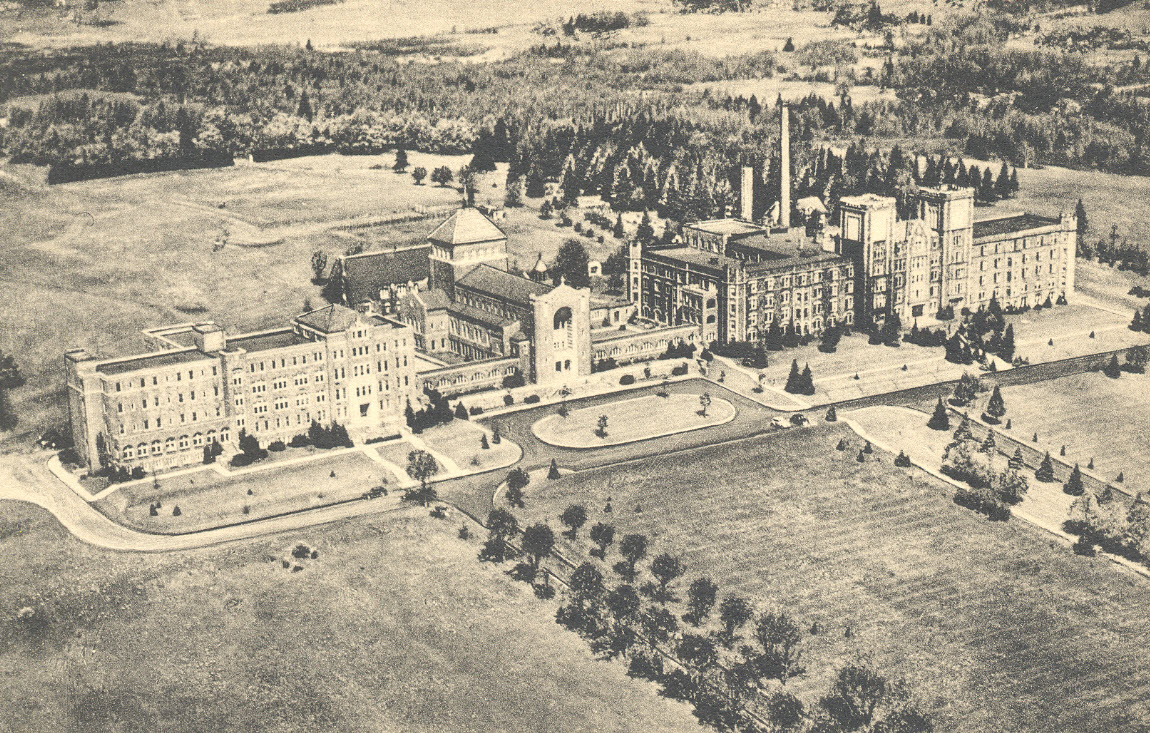 1940s Aerial View of Campus