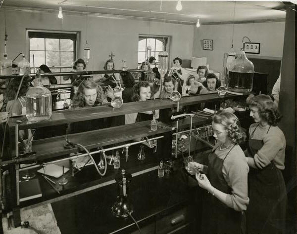 The College of St. Scholastica Chemistry Lab 1930s