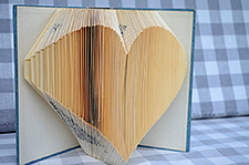 Heart shaped book origami