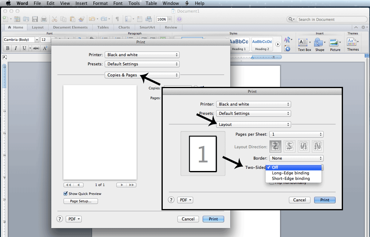 Q How To Print Single Sided On A Mac
