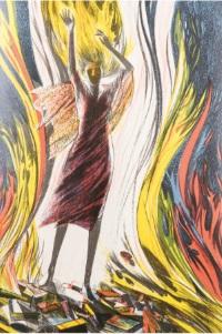 "Ray Bradbury, ""Fahrenheit 451,"" 1982, illus. by Joe Mugnaini."