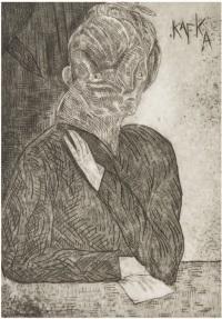 """Franz Kafka, """"Metamorphosis,"""" 1984, illus. by Jose Luis Cuevas."""