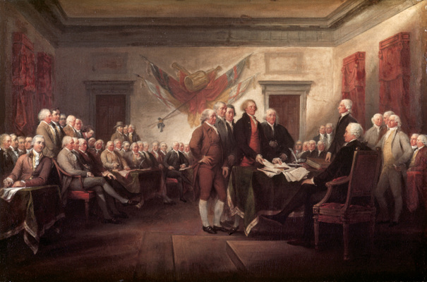 Declaration of Independence, 4 July 1776 by John Trumbull