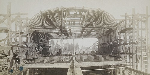 Whaleback under construction