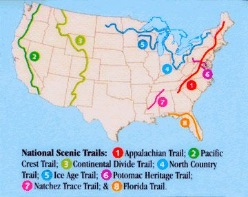 Maps Hiking And Backpacking Library Guides At Penn State University - Us trails map