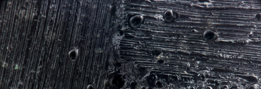 magnified view of carbon fiber