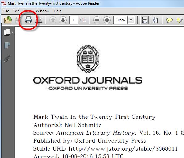 PDF Print - Adobe Reader