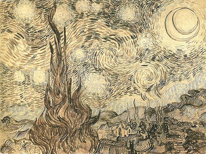 Vincent van GoghDrawing, pen and ink on paperSaint-Rémy: June, 1889Museum of Architecture